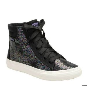 NWOT Girls Double Up High Top Glitter Sneakers